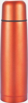 Orange Färgglada termosar med tryck
