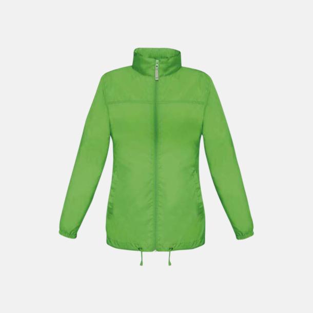 Real Green (dam) Vind- och vattentäta jackor för dam, herr och barn - med tryck