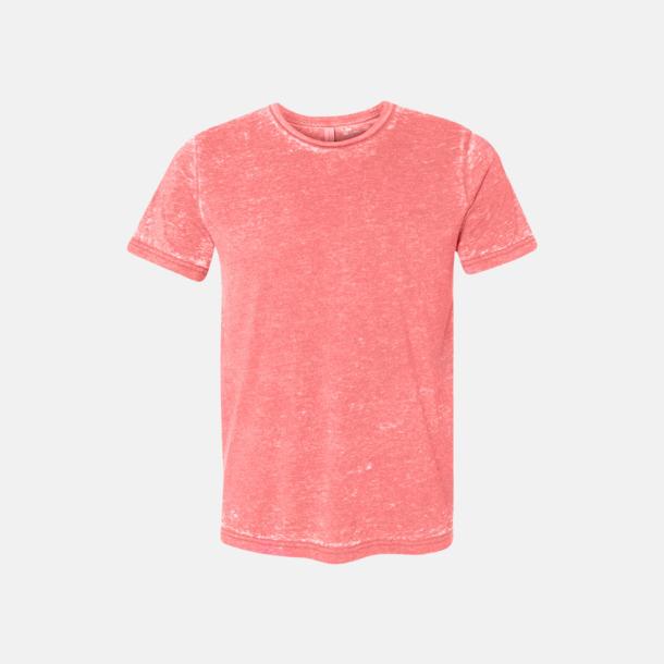 Red Acid Wash (heather) Unisex t-shirts i spräckliga färger med reklamtryck