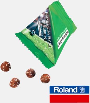Pretzelbollar Snacks från Ültje eller Roland i pyramidpåsar med reklamtryck