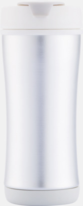 Vit Lättåteranvändbara vattenflaskor med tryck