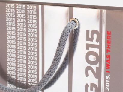Bomullsrephandtag Skräddarsydda papperspåsar med reklamtryck