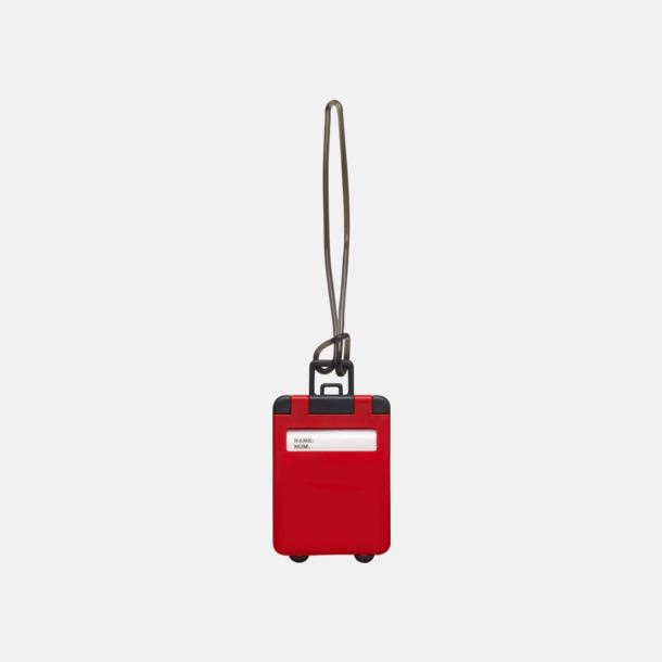 Röd Bagagebricka med eget reklamtryck