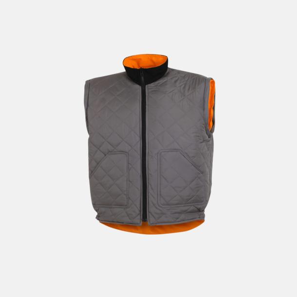 Grå / Orange Flexibel arbetsjacka för yrkesfolk
