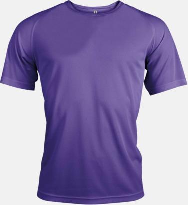 Violet Sport t-shirts i många färger för herrar - med reklamtryck