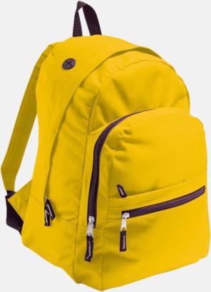 Gold Musikvänliga ryggsäckar med tryck eller brodyr