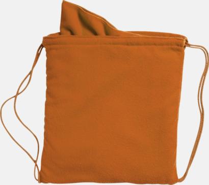 Orange Gymnastikpåse med matchande handduk med reklamlogga
