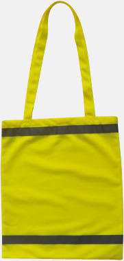 Signalgul Warnsac® shoppingbag med reklamtryck
