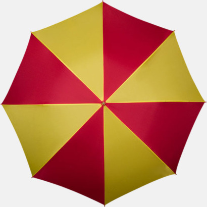 Röd / Gul Golfparaplyer med ergonomiska trähandtag