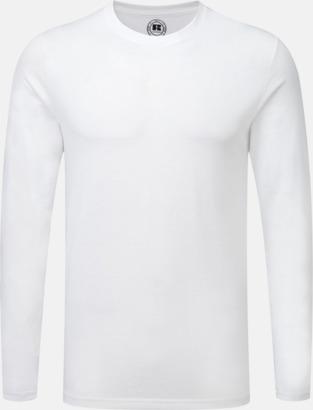 Vit (herr) Långärms t-shirts i herr-, dam och barnmodell med sublimering