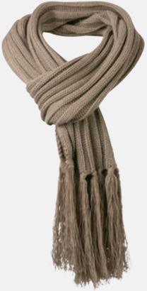 Taupe Halsdukar med egen logga