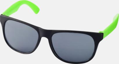 Neon Grön Klassiska solglasögon med bågar i kontrasterande färg - med tryck