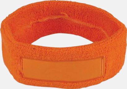 Orange Smala svettband med tryck
