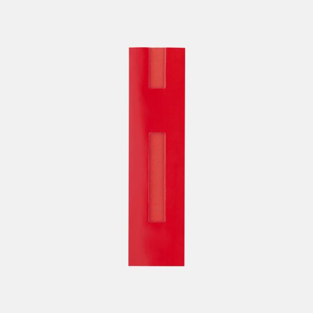 Röd Fodral i kartong med reklamtryck