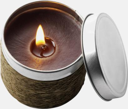 Brun (kaffe) Doftande värmeljus med reklamlogga