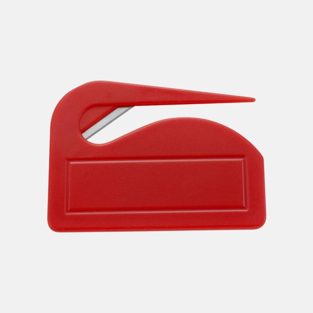 Röd Brevöppnare med stor yta för digitaltryck
