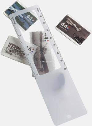 Linjal, förstoringsglas och bokmärke i 1 - med reklamtryck