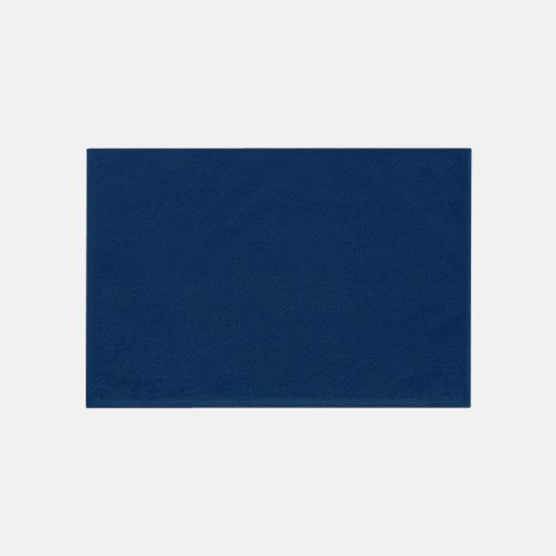 Mörkblå (30 x 50 cm) Mjuka bomullshanddukar i 5 storlekar med reklambrodyr