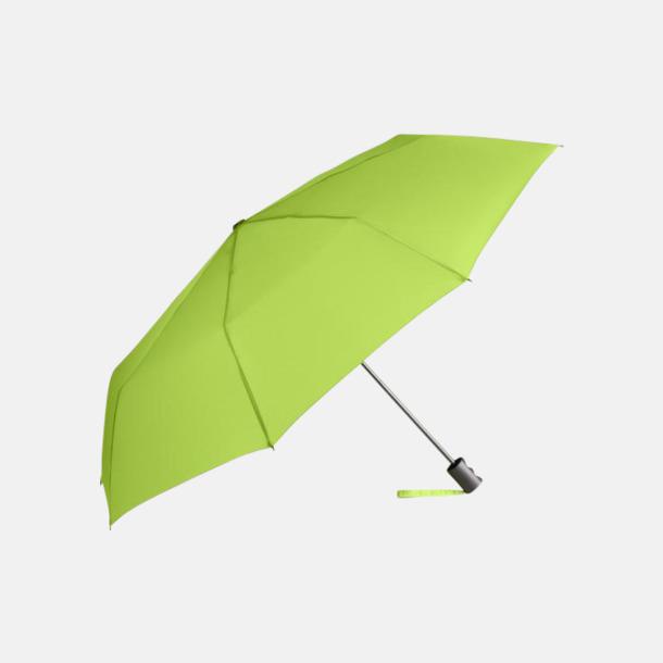 Limegrön eko-kompaktparaplyer med reklamtryck