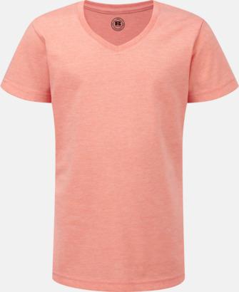 Coral Marl (v-neck flicka) Barn t-shirts i u- och v-hals med reklamtryck