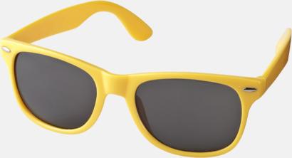 Gul (PMS 116C) Trendiga solglasögon med tryck