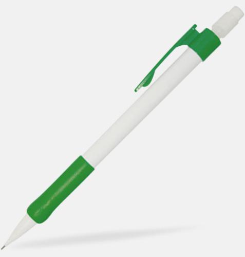 Vit/grön Stiftpennor med tryck