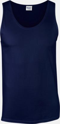 Marinblå (herr) Bomullslinnen i herr- och dammodell med reklamtryck