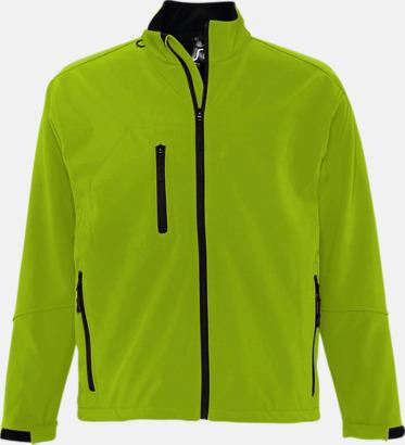 Absinthe Green (herr) Softshell jackor i herr- & dammodell med reklamtryck