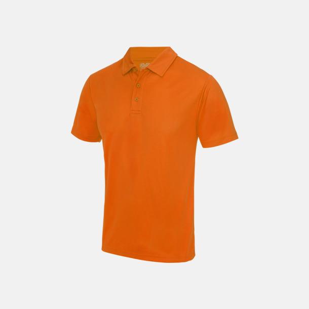Electric Orange Färgglada pikétröjor med reklamtryck