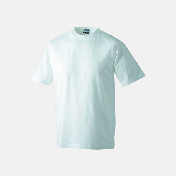 Vit Barn t-shirtar av kvalitetsbomull med eget tryck