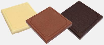 Chokladbitar med reklamtryckt banderoll