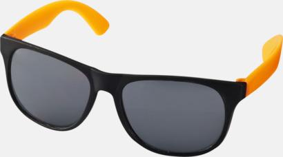 Neon Orange Klassiska solglasögon med bågar i kontrasterande färg - med tryck