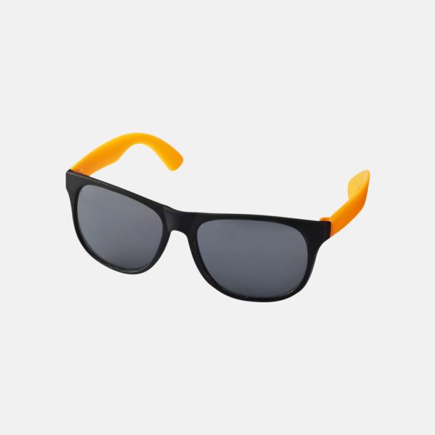 Neon Orange Klassiska solglasögon med bågar i kontrasterande färg - med reklamtryck