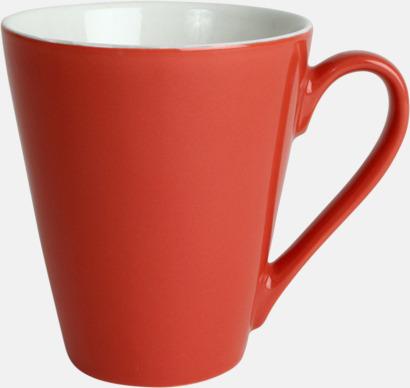 Röd Klassiskt kaffekopp i mångar fina färger