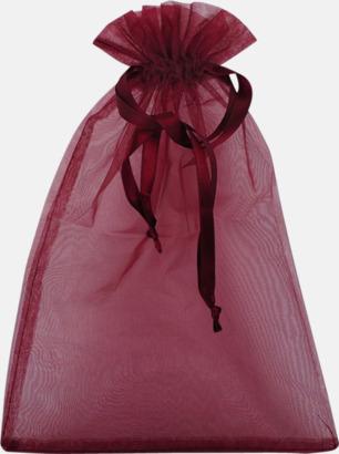 Röd (M) Färgglada presentpåsar i 4 storlekar med reklamtryck