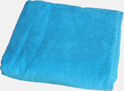 Aqua Blue Bomullshanddukar i 3 storlekar med reklambrodyr
