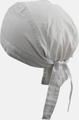 Ljusgrå (hatt) Bandanas i två varianter med reklambrodyr
