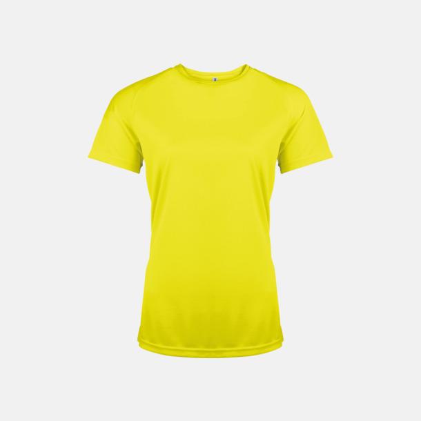 Fluorescerande Gul Sport t-shirts i många färger för damer - med reklamtryck