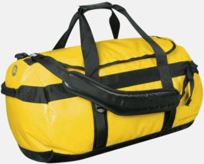 Gul/Svart Vattentäta bagar & ryggsäckar med reklamtryck
