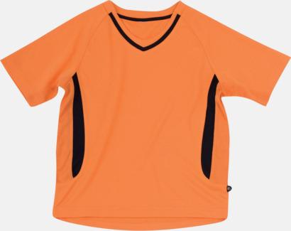 Orange / Svart Snabbtorkande funktionströja med eget tryck eller bordyr