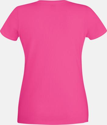 Magenta Dam t-shirt med reklamtryck