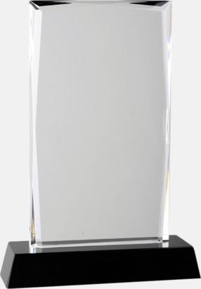 Stående Kristalltroféer i två storlekar med reklamtryck
