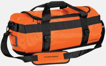 Orange/Svart 35 liters-väskor med reklamtryck