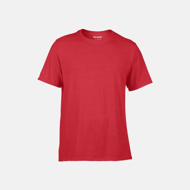 Röd Funktionströjor med eget tryck