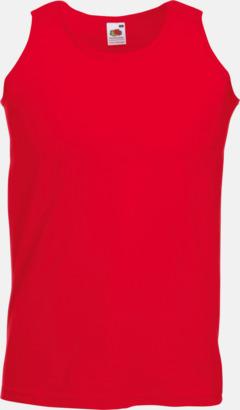 Röd Herrlinne med tryck