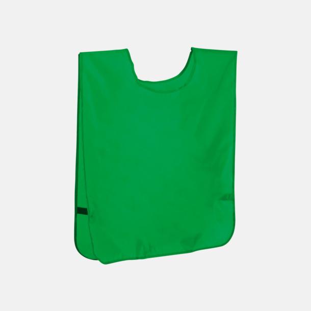 Grön Stora lagvästar med reklamtryck