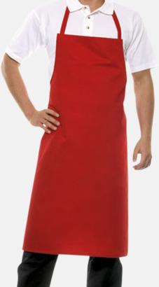 Röd (200C) Förkläden med eget tryck