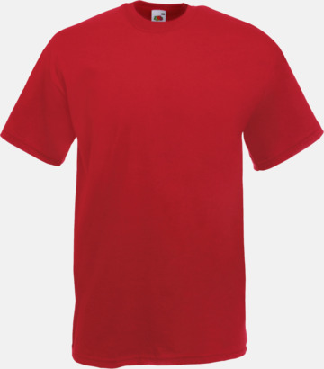 Brick red Valueweight t-shirt med tryck