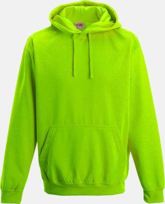 Electric Green Huvtröjor i neonfärger med reklamtryck
