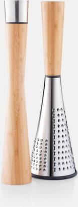 Brun / Silver Pepparkvarn & ostrivjärn med reklamlogo